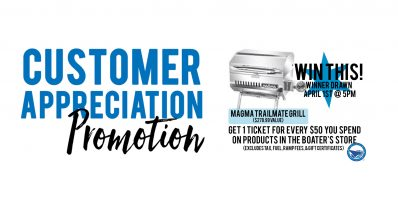 Boater's Store Customer Appreciation Promotion