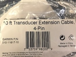 10ft transducer extension cable 1