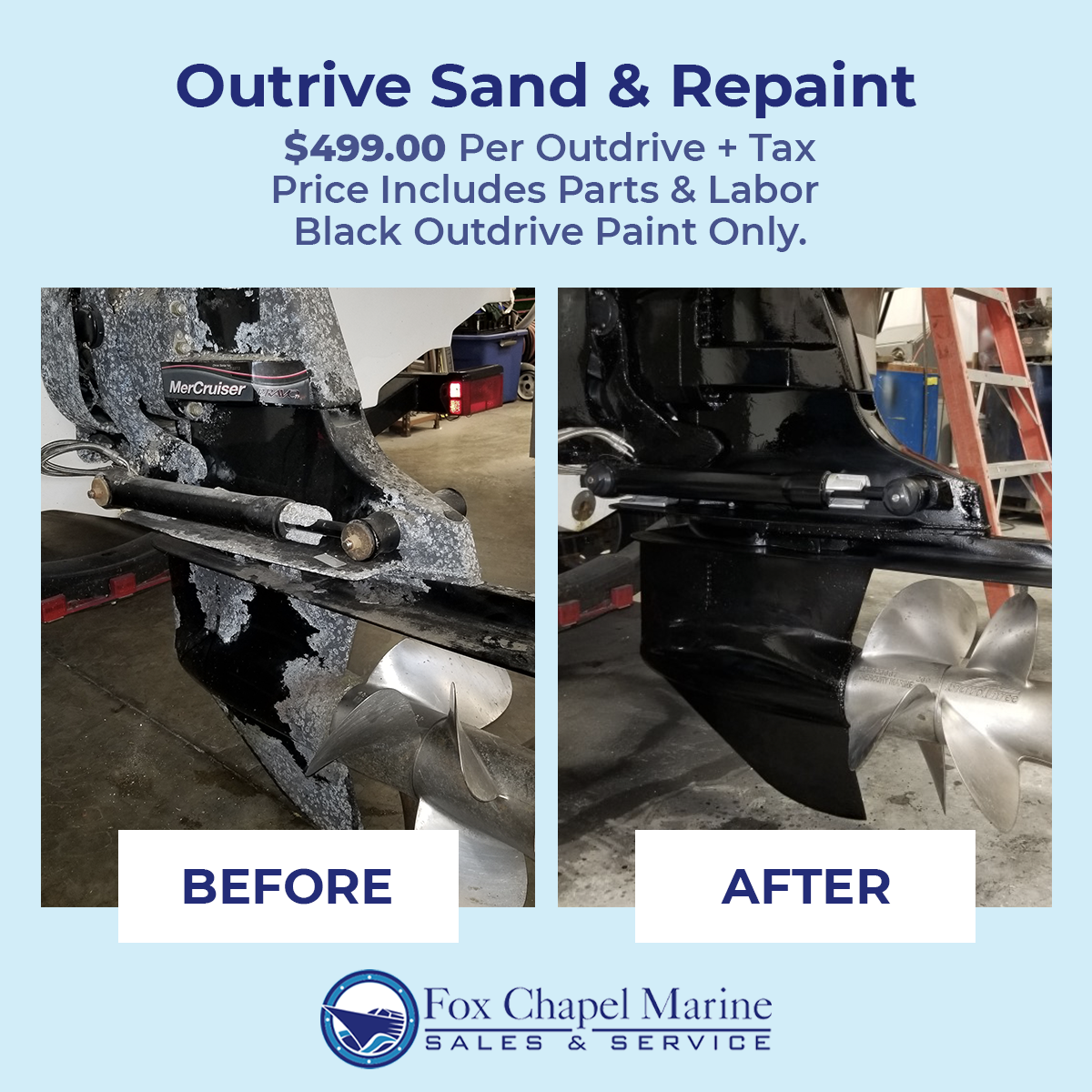 Outdrive Sand & Repaint