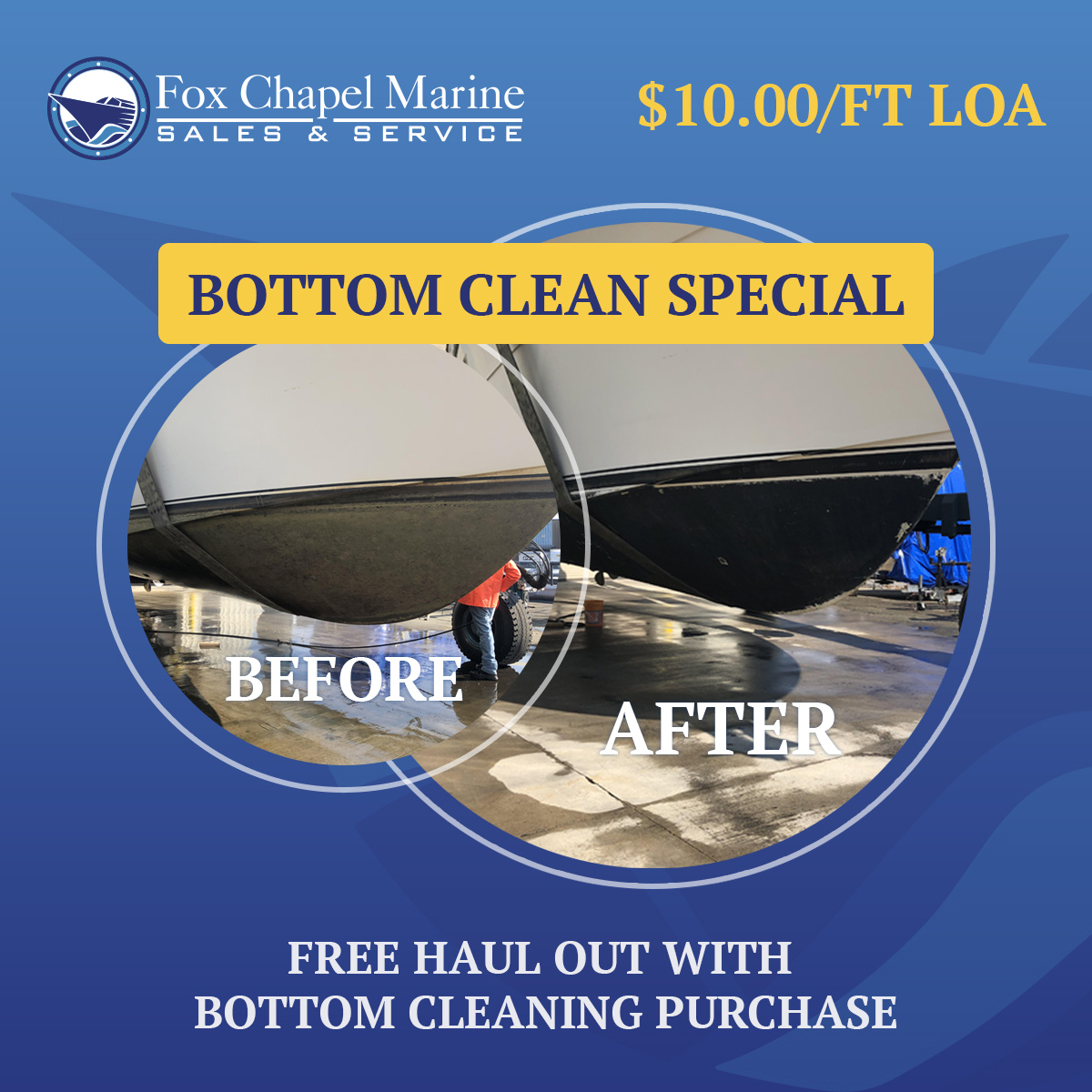 Boat Bottom Clean Special